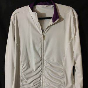 Callaway ladies XL ladies golf jacket white